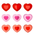 Valentine Flat Icon Heart vector image vector image