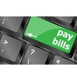bills button on the computer keyboard Keyboard vector image