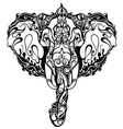 Beautiful Elephant with ornament vector image