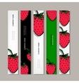 Banners template strawberry design vector image