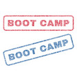 boot camp textile stamps vector image