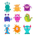 cartoon funny monsters set for t-shirt vector image