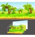 Cartoon Game Design Concept vector image