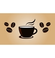 Coffee vintage banner template with beans vector image