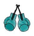 color crayon stripe image set boxing gloves sport vector image