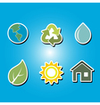 color icons with Ecology symbols vector image