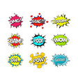 comic speach bubble effect set vector image