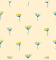 dill crown flower abstract simple seamless pattern vector image