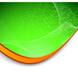 Green wave background with border vector image