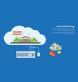 internet banking banner vector image