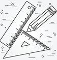 Ruler angle and pencill thin line design Ruler ang vector image