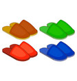 set of colorful house slippers flat design vector image