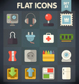 Universal Flat Icons Set for applications 23 vector image vector image
