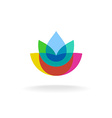 Colorful flower logo vector image