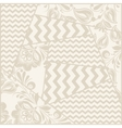 vintage seamless patchwork pattern vector image