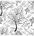 seamless tree pattern 015 grunge vector image