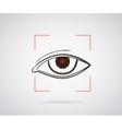 Eye identification vector image