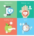 Healthy lifestyle flat stylish set vector image