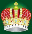 medieval royal crown vector image