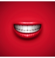 Smile background vector image