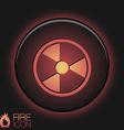 symbol of nuclear danger vector image