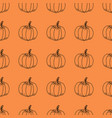 Pumpkin pattern contour graphics on an vector image