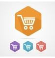 Flat shopping basket icon vector image