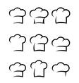 black chef hat set vector image