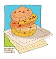 oatmeal raisin cookies vector image
