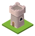 Isometric icon of medieval tower or prison vector image vector image