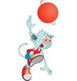 Cute Devil Basketball player vector image