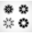Abstract black and white design element vector image
