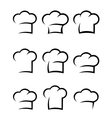 black chef hat set vector image