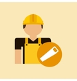 character construction man with tool box saw vector image