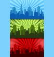 comic bright horizontal banners vector image