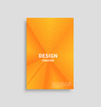 creative design cover poster triangle line vector image