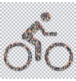 cyclist sport people 3d vector image
