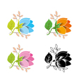 decorative flower set vector image