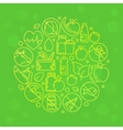 Green vegetarian vector image