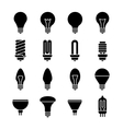 Light bulb and led lamp icons vector image