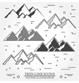 Set of mountains icons vector image