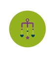 stylish icon in color circle babies Bed carousel vector image