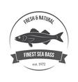 seabass label vector image