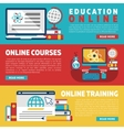 Online education training courses or webinars vector image