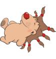 Sleeping hedgehog cartoon vector image vector image