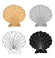 prehistoric seashell icon in cartoon style vector image