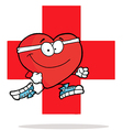 Heart excercise cartoon vector image