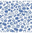 Seamless Social Media Patterns vector image vector image