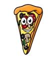 Cartoon pizza slice vector image