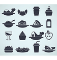 food silhouettes vector image vector image